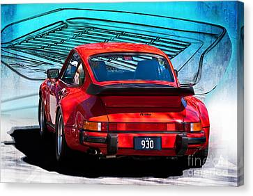 Red Porsche 930 Turbo Canvas Print by Stuart Row