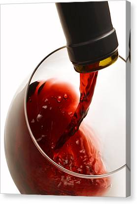 Red Pour Canvas Print by Dennis James