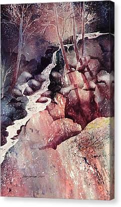 Red Ravine  Canvas Print by John  Svenson