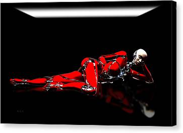 Red Reflection Canvas Print by Bob Orsillo