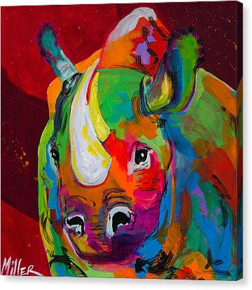 Red Rhino Canvas Print by Tracy Miller