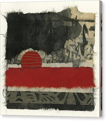 Red Rising Sun Canvas Print by Carol Leigh