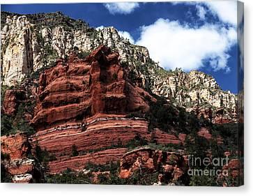 Red Rock At Oak Creek Canvas Print by John Rizzuto