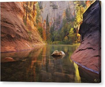 Red Rock Autumn Canvas Print by Peter Coskun