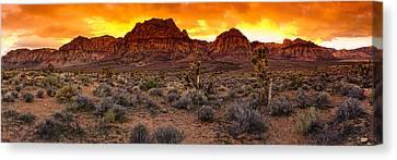 Red Rock Canyon Las Vegas Nevada Fenced Wonder Canvas Print by Silvio Ligutti