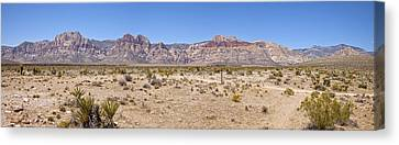Red Rock Canyon Panorama Nevada. Canvas Print by Gino Rigucci