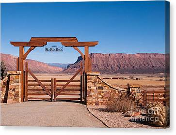 Red Rock Ranch Canvas Print by Bob and Nancy Kendrick