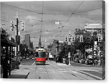 Red Rocket 13c Canvas Print by Andrew Fare