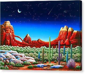 Red Rocks 5 Canvas Print by Andy Russell