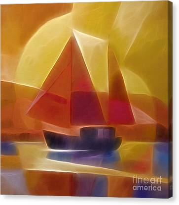 Red Sails Canvas Print by Lutz Baar
