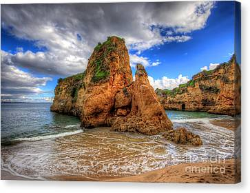 Red Sandstone Stack Lagos Canvas Print by English Landscapes