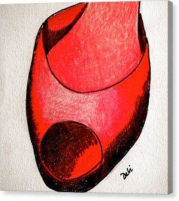 Red Shoe Canvas Print by Debi Starr