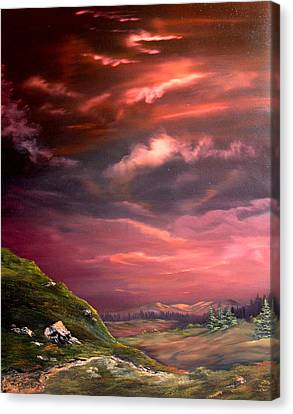 Red Sky At Night Canvas Print by Jean Walker