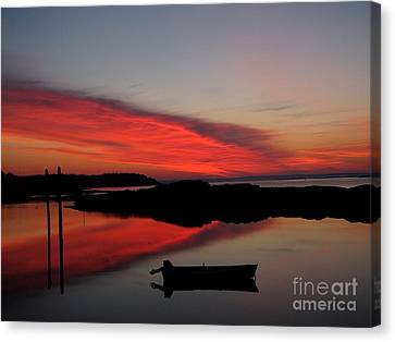 Red Sky In Morning Canvas Print by Donnie Freeman