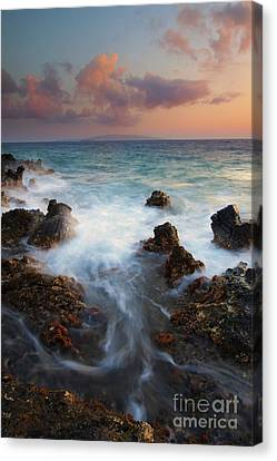 Red Sky Over Kahoolawe . .  Canvas Print by Mike  Dawson