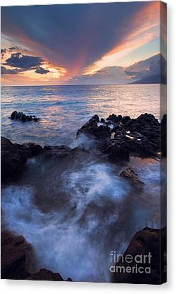 Red Sky Over Lanai Canvas Print by Mike  Dawson