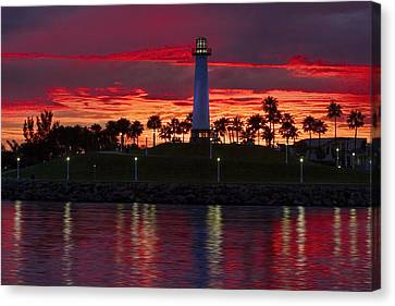 Red Skys At Night Denise Dube Photography Canvas Print by Denise Dube