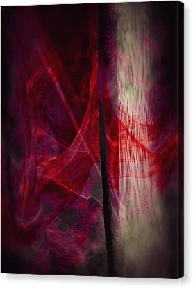Red Smoke Canvas Print by Dennis James