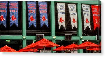 Red Sox Champion Banners Canvas Print by Joann Vitali