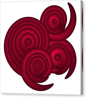 Red Spirals Canvas Print by Frank Tschakert