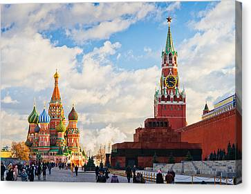 Red Square Of Moscow - Featured 3 Canvas Print by Alexander Senin