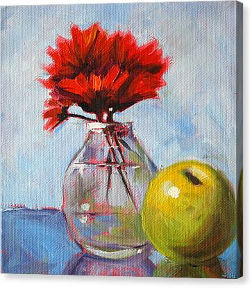 Red Still  Canvas Print by Nancy Merkle