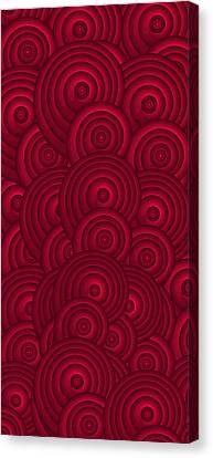 Red Swirls Canvas Print by Frank Tschakert