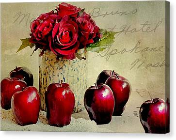 Red To Red Canvas Print by Diana Angstadt