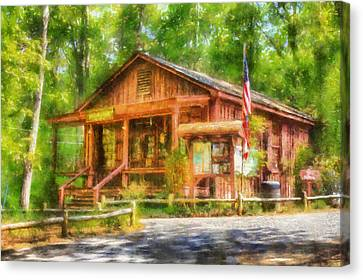 Red Top Visitors Center Canvas Print by Daniel Eskridge