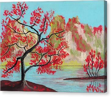 Red Trees Canvas Print by Anastasiya Malakhova