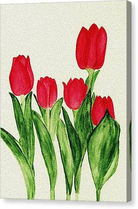 Red Tulips Canvas Print by Anastasiya Malakhova