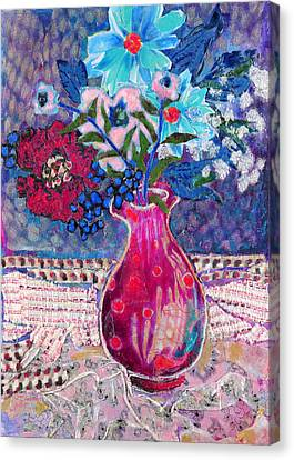 Red Vase IIi Canvas Print by Diane Fine