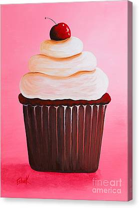 Red Velvet Cupcake By Shawna Erback Canvas Print by Shawna Erback