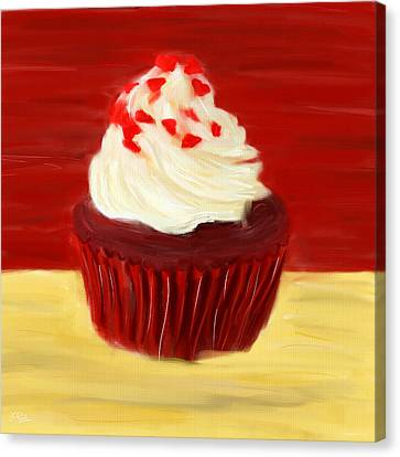 Red Velvet Canvas Print by Lourry Legarde