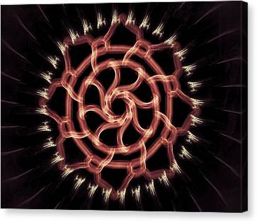 Red Wheel Canvas Print by Michael Jordan