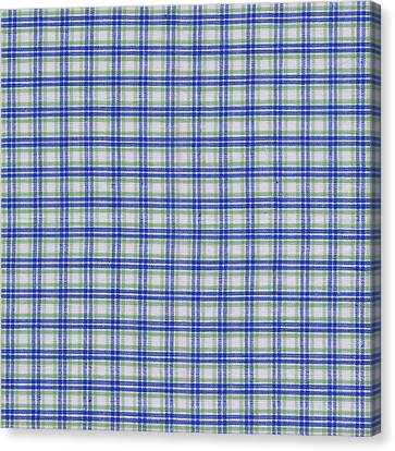 Red White And Blue Plaid Fabric Background Canvas Print by Keith Webber Jr