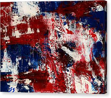 Red White And Blue Canvas Print by Susan Sadoury