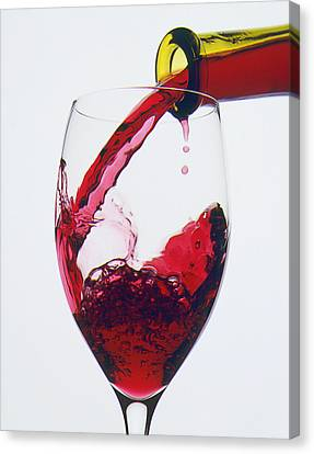 Red Wine Being Poured  Canvas Print by Garry Gay