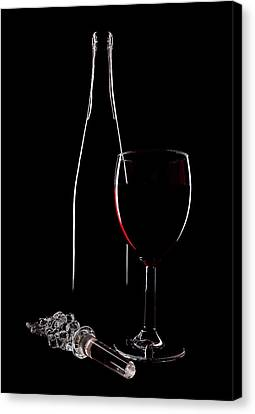 Red Wine Canvas Print by Marcia Colelli