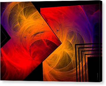 Red Yellow And Blue Mix Canvas Print by Mario Perez