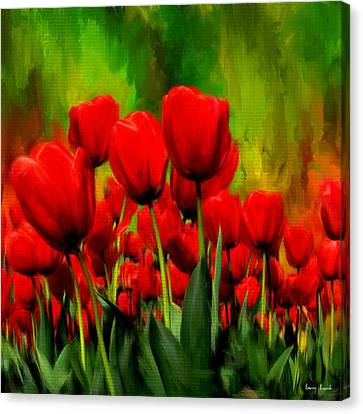 Reddened By Passion Canvas Print by Lourry Legarde