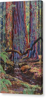 Redwood Picnic Canvas Print by Cheryl Myrbo
