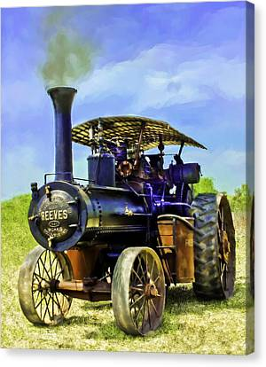 Reeves Steam Traction Engine Canvas Print by F Leblanc