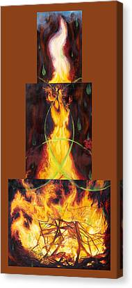 Refiners Fire Canvas Print by Anne Cameron Cutri
