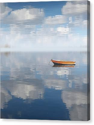 Reflected Shanti Canvas Print by Deborah Smith