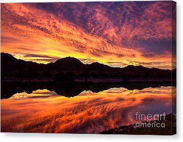 Reflected Sunrise Canvas Print by Robert Bales