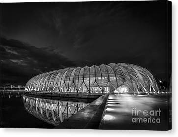 Reflecting The Future-bw Canvas Print by Marvin Spates