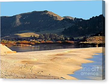 Reflecting The Setting Sun Canvas Print by Susan Wiedmann