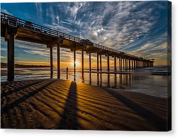 Reflection And Shadow Canvas Print by Peter Tellone
