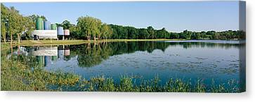 Reflection Of Trees In Water, Warner Canvas Print by Panoramic Images